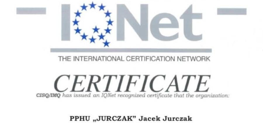 Certyfikaty cnc jurczak